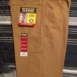 Rustlers khaki pants. (34×32)